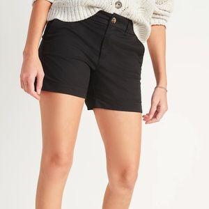 """Old Navy 5"""" Perfect Chino Shorts Black 10"""